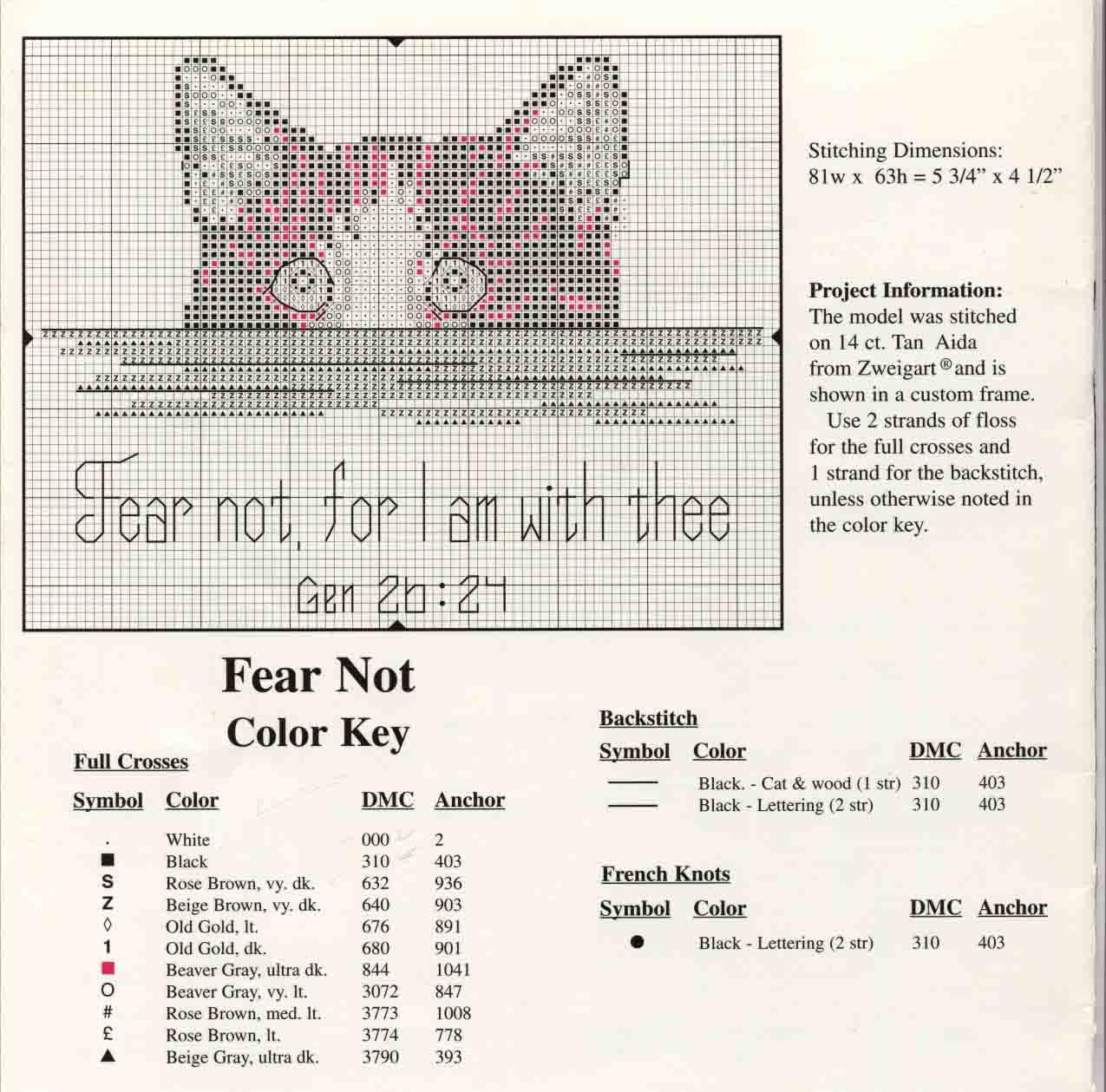 Вышивка гладью схема котик 40